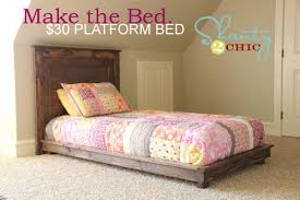 ana white fillman platform twin platform bed diy projects