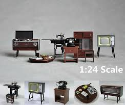 Dollhouse Miniature Furniture Free Plans by 1 24 Vintage Japanese Japan Furniture Dollhouse Miniature Fridge