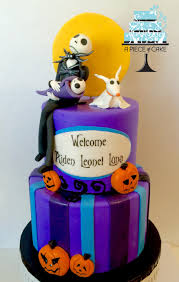 halloween cake designs nightmare before christmas baby shower cake by a piece of cake