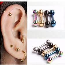 ear piercing studs retro 1 2 6 3 3mm men s stainless steel barbell ear piercing