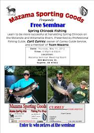 Reciprocity Map Spring Chinook Fishing Seminar Mazama Fishing Pro Shop U0026 Gun Room
