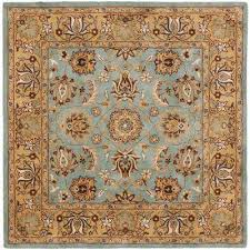 Teal And Gold Rug Teal Square 7 U0027 And Larger Area Rugs Rugs The Home Depot