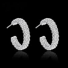not on the high earrings wholesale high quality silver plated stud earrings not allergic