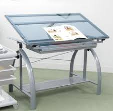 Drafting Table Storage Drafting Table With Tilting Top Of Adjustable Height And