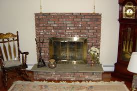 living room with red brick fireplace home design ideas