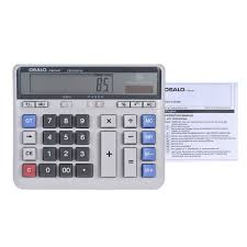 large computer electronic calculator counter solar u0026 battery power