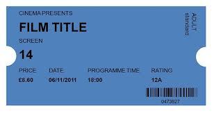 movie ticket template free 40 free editable raffle movie ticket