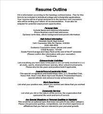 outline of resume hitecauto us