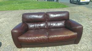 brown collection brown leather sofa free for collection in cowes wightbay