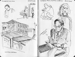 urban sketchers switzerland sketching people in the train