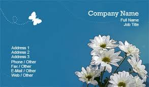business card templates floral