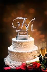 bling wedding cake toppers letter wedding cake topper