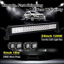 24 inch led light bar offroad 24inch led light bar 4x 4 led cree pods off road truck jeep ford