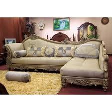 sofa l shape dolphin cairo l shape right fabric sofa set brown beige buy