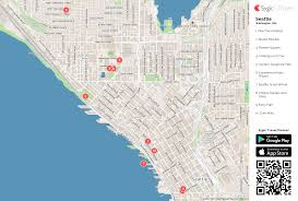 seattle map seattle printable tourist map sygic travel
