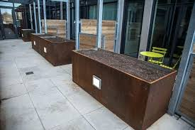 steel planter box construction steel planter boxes sydney corten