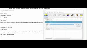 Resume Dropbox How To Force Internet Download Manager To Download File Or List Of