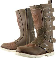mens motorcycle boots brown mens icon one thousand 1000 elsinore oiled brown motorcycle