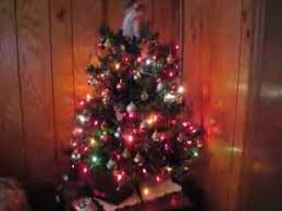 small tree with twinkling lights