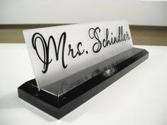 Desk Name Plates Wood Desk Accessories Wood Desk Name Plate For Office Makes A Great