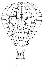 air balloon printable coloring pages page pdf sheets air