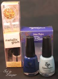 salon perfect metallic glam nail art kit set in lacquer