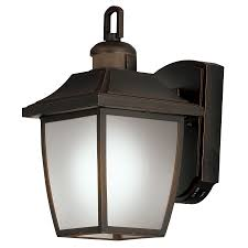 Lowes Porch Lights by Shop Portfolio 12 5 In H Dark Oil Rubbed Bronze Motion Activated