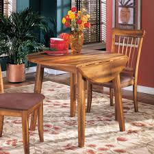 Square Drop Leaf Table Ashley Furniture Berringer Square Drop Leaf Table In Rustic Brown