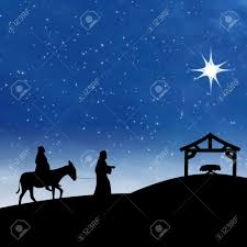 nativity on the night of jesus birth showing bright star and