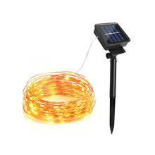 solar power led lights 100 bulb string popular 100 solar powered led light lighting strip string buy cheap