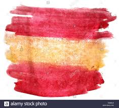 Colors Of Spains Flag Splash Paint Blot Yellow Red Spain Flag Watercolour Color Wate