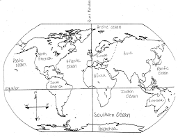 Map Worksheets Best Photos Of Blank World Map Continents And Oceans Printable