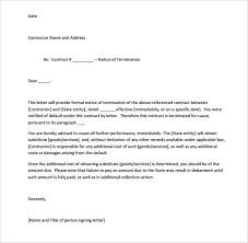 termination of contract letter template maintenance contract