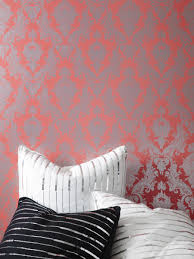 Wallpaper For Renters Wall Decor Modern Tempaper Wallpaper In Charming Motif Design And