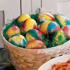 easter dying eggs tie dyed easter eggs recipe taste of home