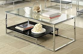 Display Case Coffee Table by Amazon Com Furniture Of America Gacelle Contemporary Glass Top