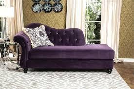Purple Sleeper Sofa Purple Sofa Velvet Tufted Sleeper Chaise Lounge In Purple