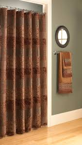 Green And Brown Shower Curtains Bath U0026 Shower Terrific Brown Curtain And Cahrming Brown Croscill