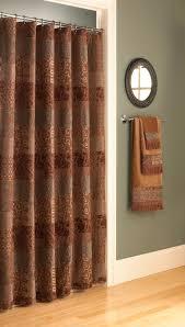 bath u0026 shower terrific brown curtain and cahrming brown croscill