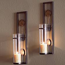home interior wall sconces decorative metal wall sconce pillar candle holders