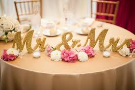 sweetheart table decor gold glitter mr and mrs wedding signs for sweetheart table decor