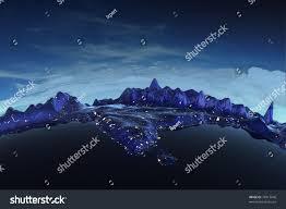 Himalayan Mountains Map Himalayas Real Relief Under Night Sky Stock Illustration 74913046