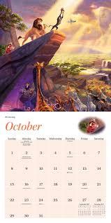 disney desk calendar 2017 thomas kinkade the disney dreams collection 2017 mini wall calendar