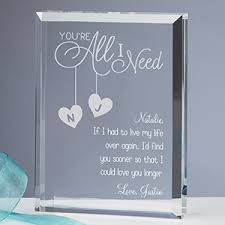 personalized keepsakes personalized keepsake you re all i need