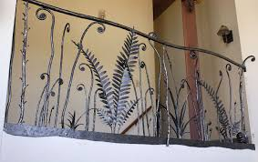 decorative steel railing iron