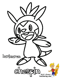spectacular pokemon x and y chespin swirlix free coloring kids for