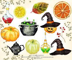 hand painted pumpkin halloween clipart paper seamless design digital paper instant download watercolor