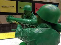 Toy Soldier Halloween Costume Halloween Couple Homemade Green Army Men Costumes