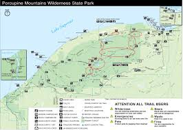 Upper Peninsula Michigan Map Dnr Dnr Reopens Roads At Porcupine Mountains Wilderness State