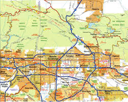 United States Highway Map by Highways Map Of Los Angeles Cityfree Maps Of Us